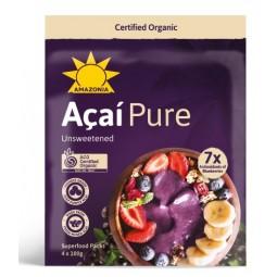 Organic Acai Pure 4 X 100 GR